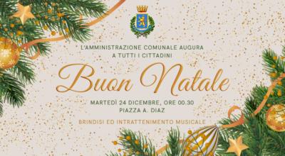 Notte di Natale: brindisi ed intrattenimento musicale in Piazza A. Diaz