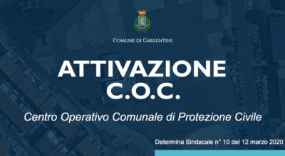 Attivazione temporanea C.O.C. di Protezione Civile