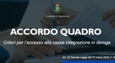 Accordo quadro: criteri per l'accesso alla cassa integrazione in deroga