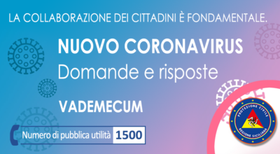 VADEMECUM: Domande e risposte sul nuovo coronavirus