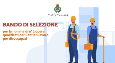 Cantieri lavoro per disoccupati: bando per la nomina di n°2 operai qualificati