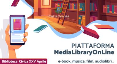 Attivo il servizio di accesso gratuito alla piattaforma di contenuti digitali Media Library OnLine