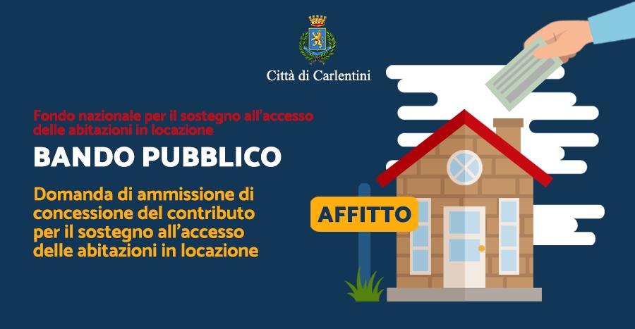 Bando Pubblico: contributo per il sostegno all'accesso delle abitazioni in locazione