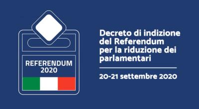 Referendum Costituzionale: Decreto di indizione – 20-21 settembre 2020