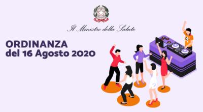 Ministero della Salute: Ordinanza del 16 Agosto 2020