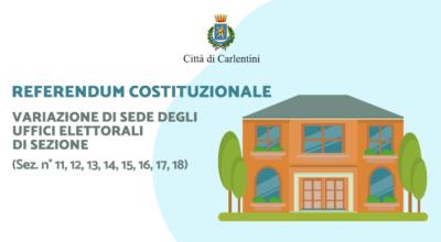Referendum Costituzionale: variazione di sede degli uffici elettorali di sezione