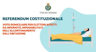 Referendum Costituzionale: voto domiciliare per elettori affetti da infermità
