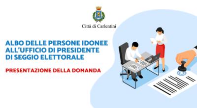 Albo delle persone idonee all'ufficio di Presidente di seggio elettorale: presentazione della domanda