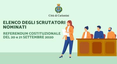Referendum Costituzionale del 20 e 21 settembre 2020: elenco degli scrutatori nominati