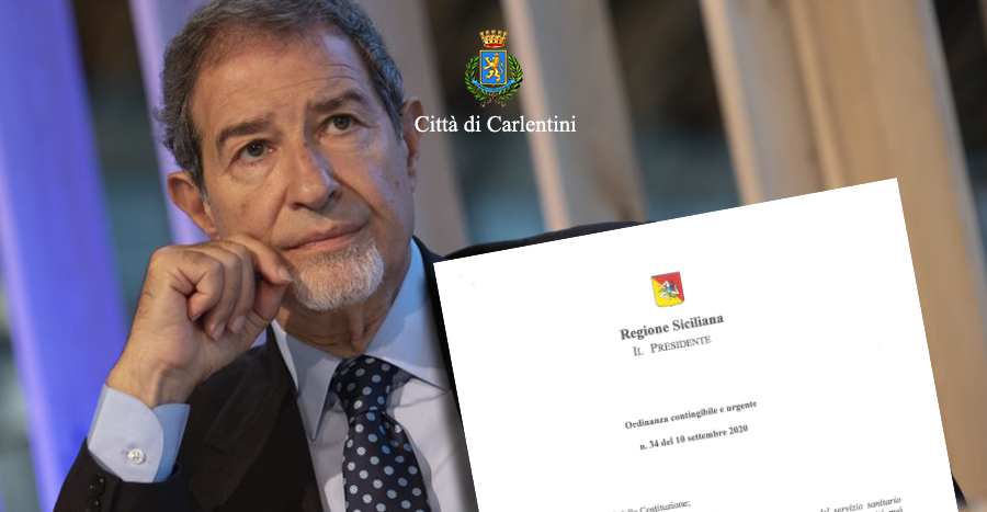 Presidenza della Regione: Ordinanza contingibile e urgente n° 34 del 10 settembre 2020