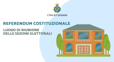 Referendum Costituzionale del 20 e 21 settembre 2020: Luogo di riunione delle sezioni elettorali
