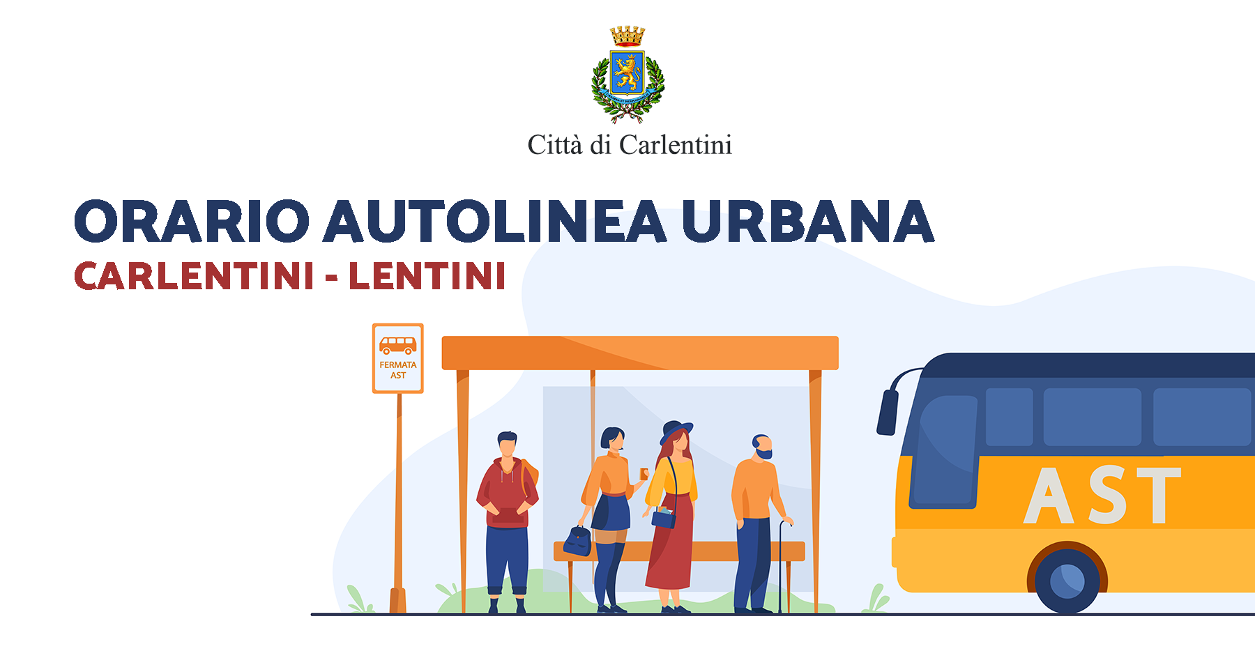 Orario autolinea urbana Carlentini-Lentini