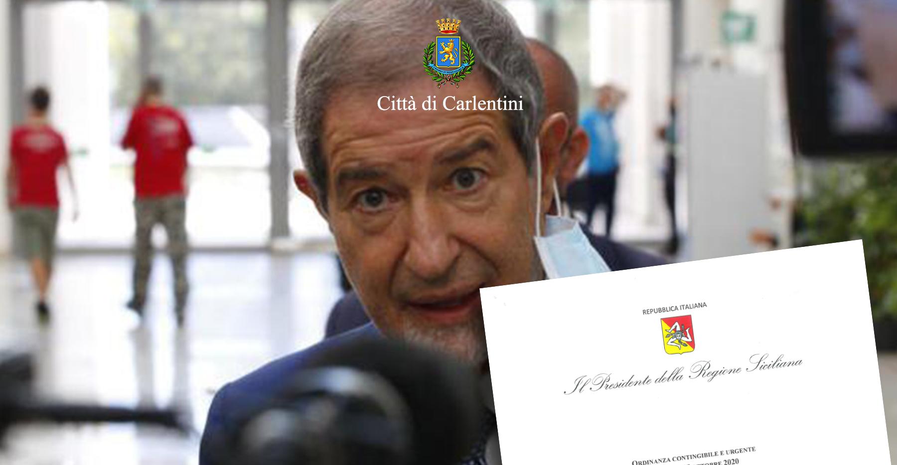 Presidenza della Regione: Ordinanza contingibile e urgente n° 42 del 15 ottobre 2020