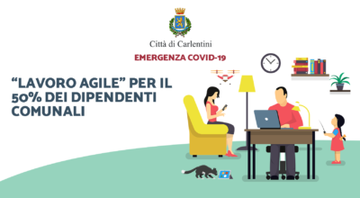 """""""Lavoro agile"""" per il 50% del personale comunale e disposizioni accesso dell'utenza nei locali comunali"""