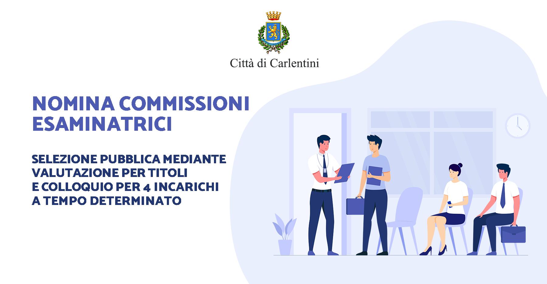 Selezione pubblica per 4 incarichi a T.D.: nomina commissioni esaminatrici