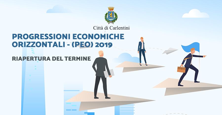 Avviso di selezione per l'attribuzione delle Progressioni Economiche Orizzontali (PEC) – Anno 2019. Riapertura termini.
