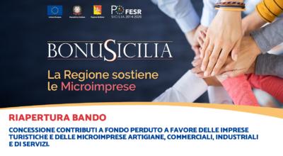 Bonus Sicilia: riapertura bando concessione contributi a fondo perduto alle imprese