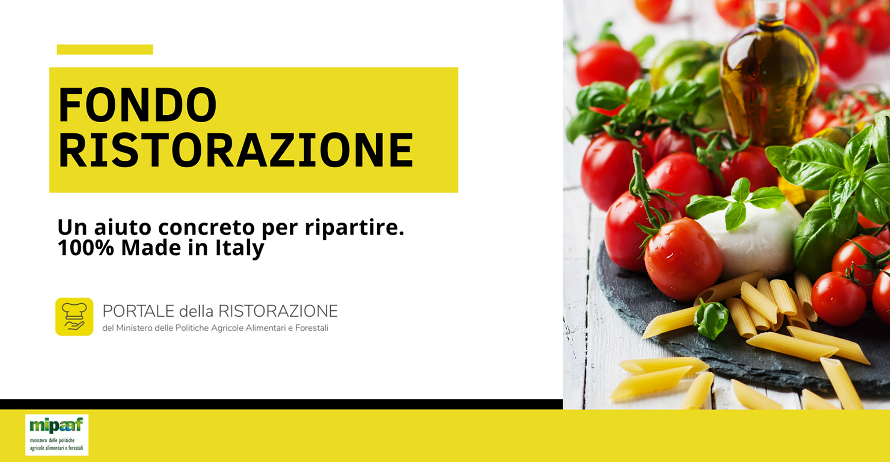 Fondo Ristorazione: 600 milioni di euro per l'acquisto di prodotti 100% Made in Italy