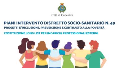 Piani di intervento Distretto socio-sanitario n° 49: Long list per incarichi professionali esterni
