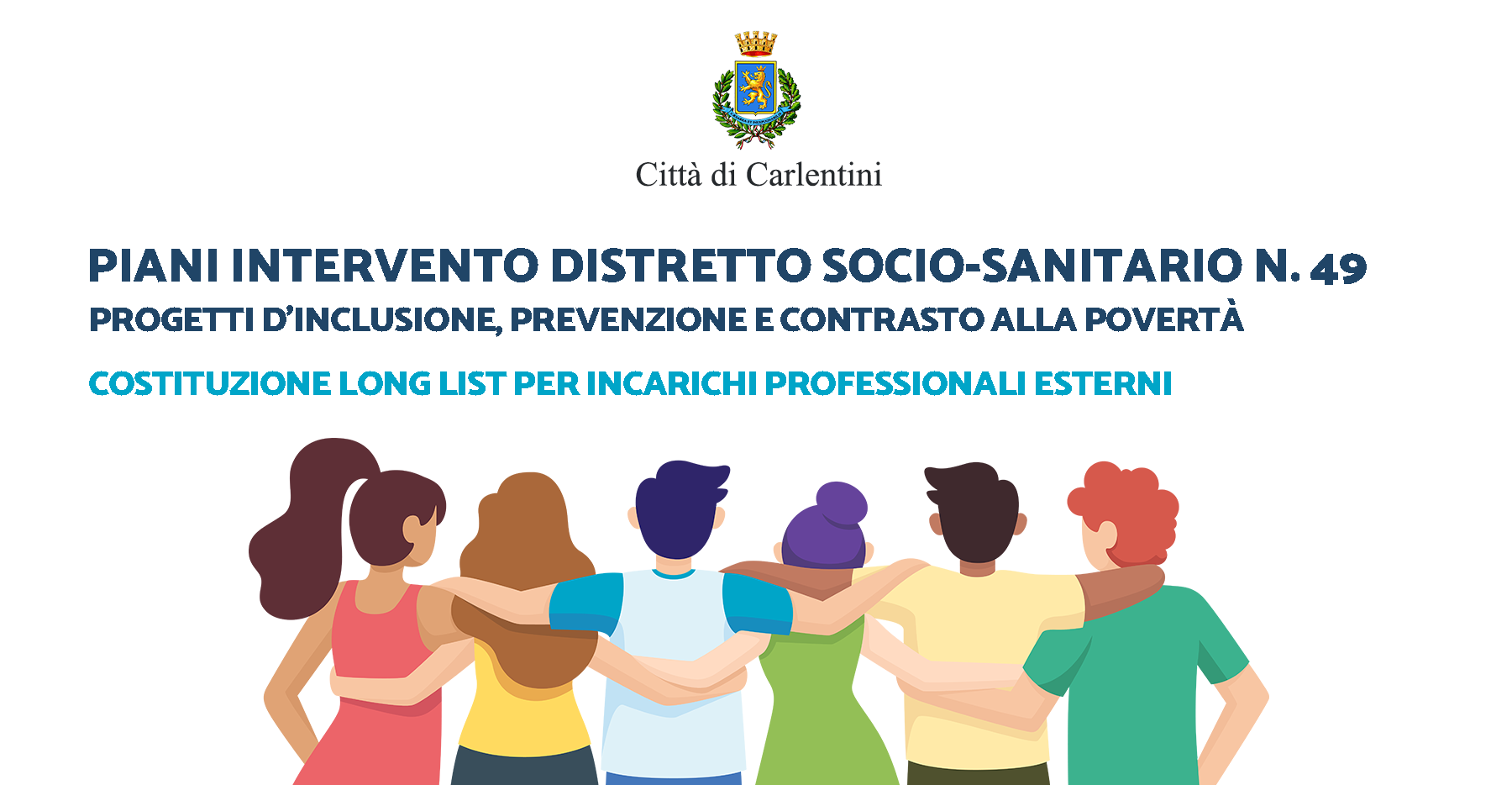 Piani di intervento Distretto socio-sanitario n° 49: Long list per incarichi professionali esterni