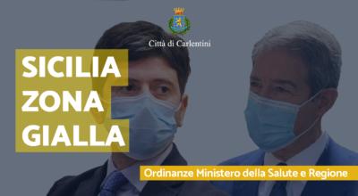 Sicilia Zona Gialla: le Ordinanze del Ministero della Salute e della Presidenza della Regione Siciliana