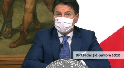DPCM del 3 dicembre 2020: Misure urgenti di contenimento del contagio sull'intero territorio nazionale