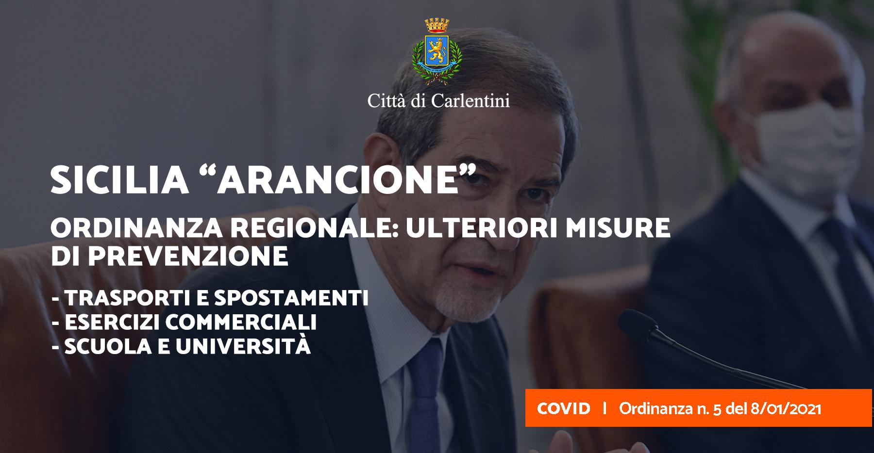 Ordinanza contingibile e urgente n. 5 del 8 gennaio 2021