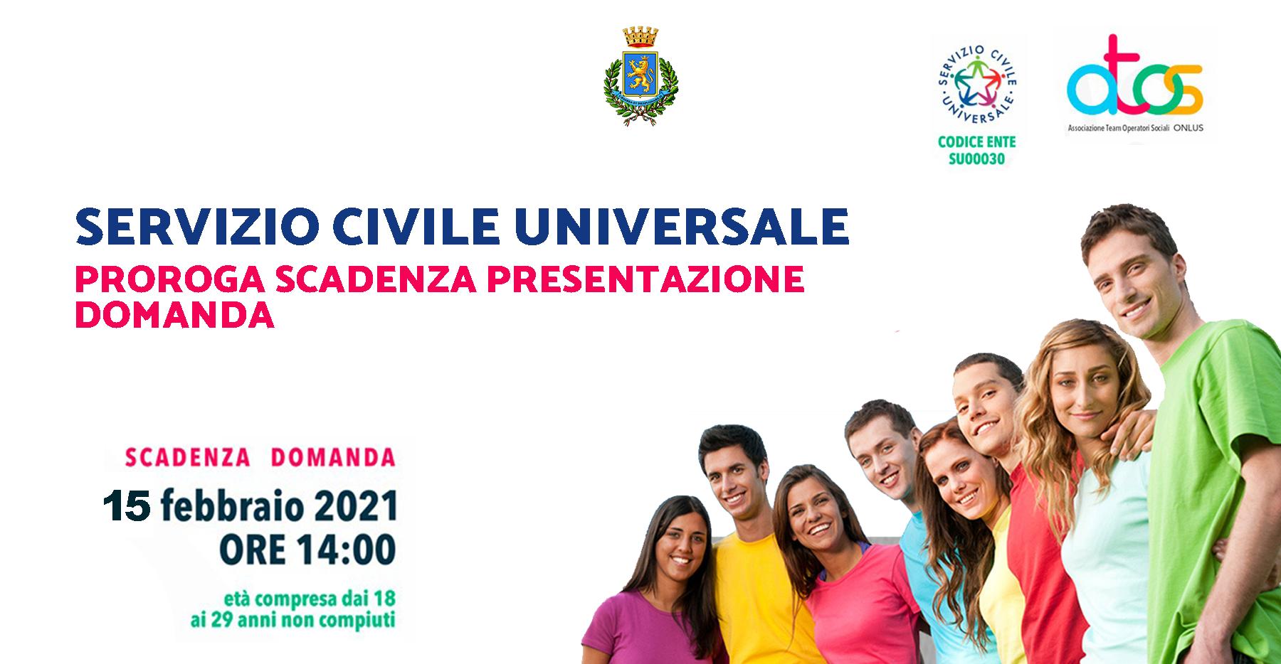 Servizio Civile Universale: proroga scadenza domanda partecipazione