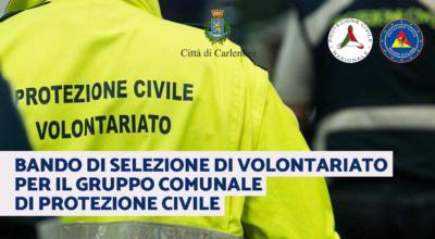 Protezione Civile: bando di selezione volontari gruppo comunale