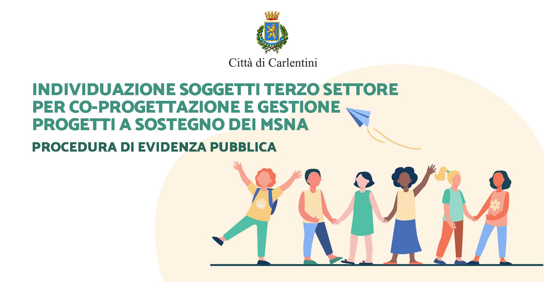 Individuazione soggetti Terzo Settore per co-progettazione e gestione progetti a sostegno dei MSNA: Procedura di evidenza pubblica
