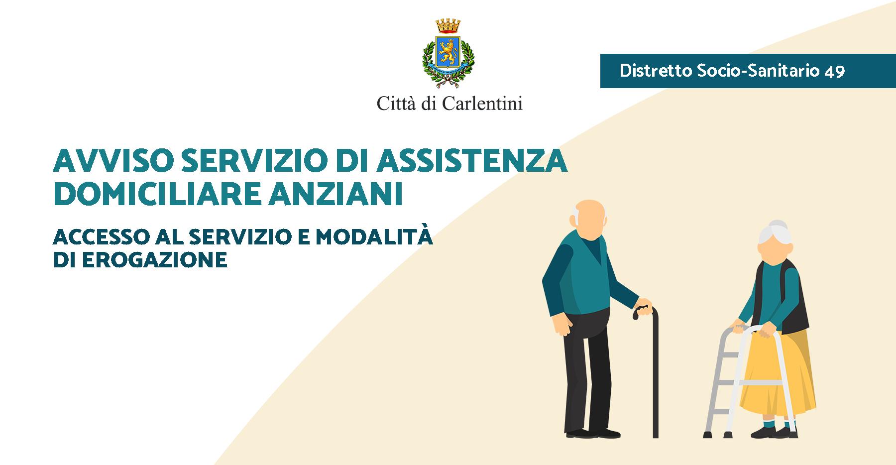 Servizio di assistenza domiciliare Anziani PdZ 2018