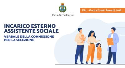 Quota fondo povertà 2018: verbale commissione per la selezione di assistente sociale