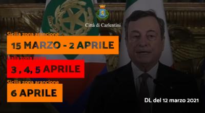 DL del 12 marzo 2021: valido dal 15 marzo al 6 aprile