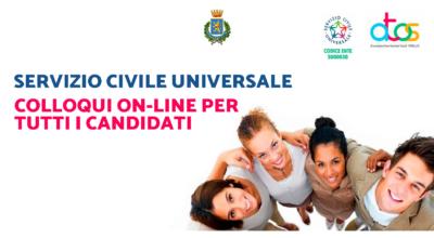 Servizio Civile Universale: Colloqui on-line per tutti i candidati