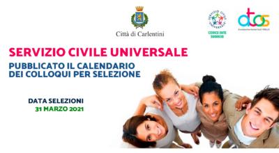 Servizio Civile Universale: pubblicato il calendario dei colloqui di selezione