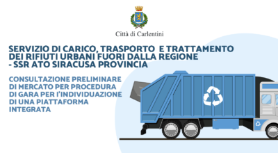 SSR ATO Siracusa Provincia – Servizio di carico, trasporto e trattamento dei rifiuti urbani fuori dalla Regione: consultazione di mercato