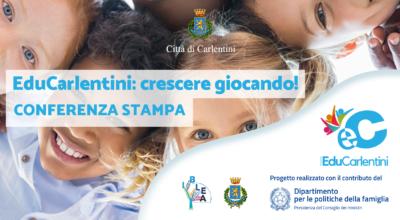 """""""EduCarlentini"""" crescere giocando!: Presentazione del progetto, venerdì 18 giugno, ore 10.30"""