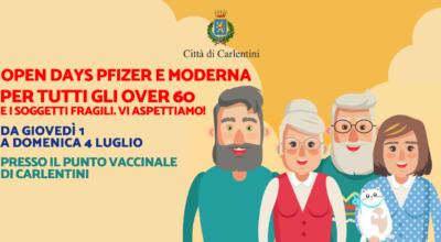 """Campagna vaccinale: Open Days """"Pfizer e Moderna"""" per Over-60 e fragili, da giovedì 1 a domenica 4 luglio"""