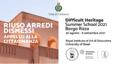 "Summer School ""Difficult Heritage"" 2021: Open Call alla cittadinanza"