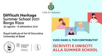 """Summer School """"Difficult Heritage"""" 2021: iscriviti e partecipa."""