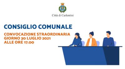 Consiglio Comunale: convocazione straordinaria per venerdì 30 luglio, ore 17.00