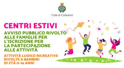 Iscrizione e partecipazione ai Centri Estivi: Avviso pubblico rivolto alle famiglie con bambini di età tra i 0 e i 14 anni