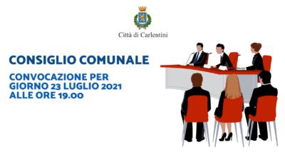 Consiglio Comunale: convocazione per venerdì 23 luglio, ore 19.00