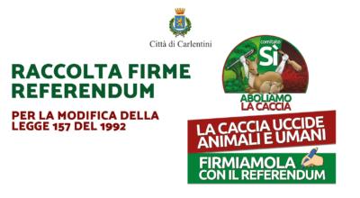 """Comitato Referendum """"SÌ"""" ABOLIAMO LA CACCIA: Raccolta firme"""