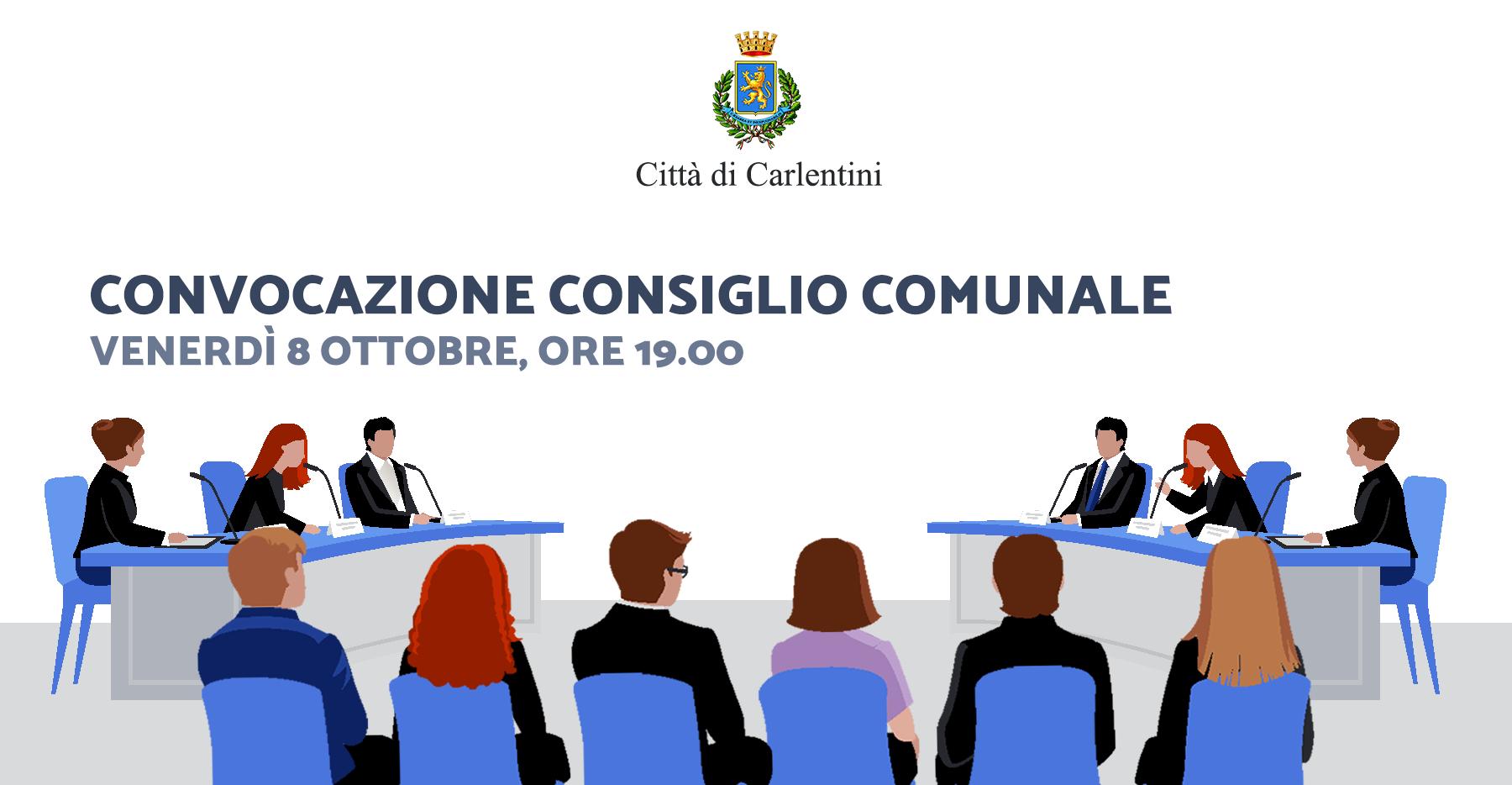 Consiglio Comunale: convocazione per venerdì 8 ottobre