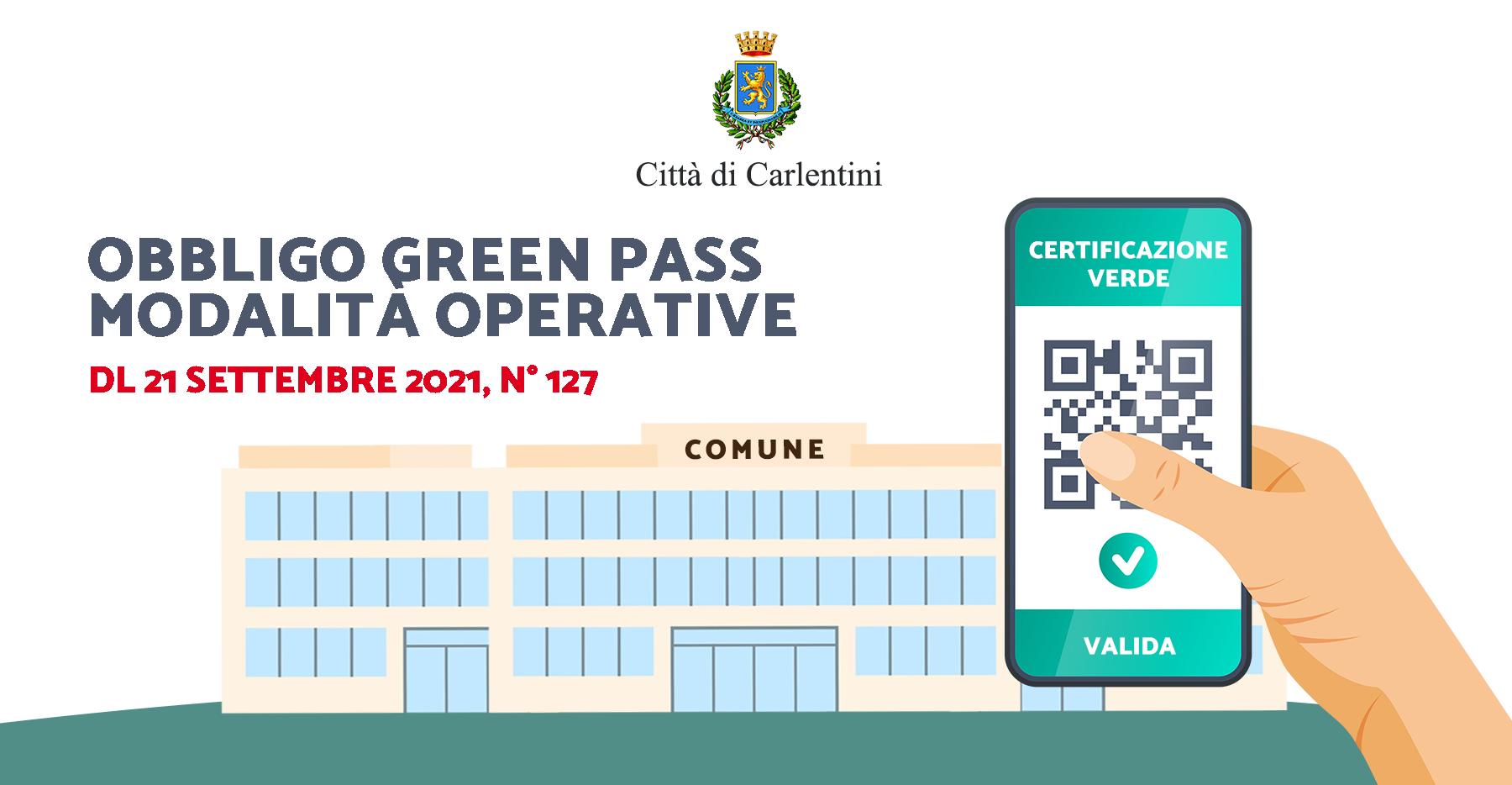 Obbligo di possesso e di esibizione certificazione verde Covid-19: modalità operative