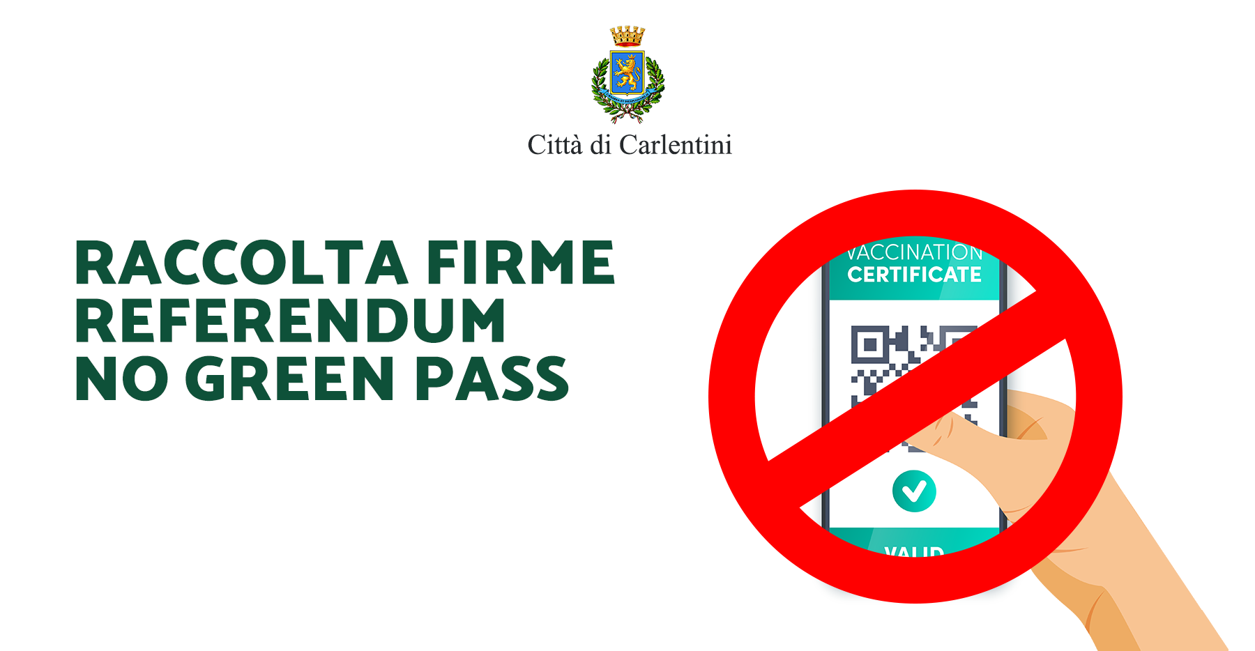 """Referendum """"No green-pass"""": raccolta firme"""